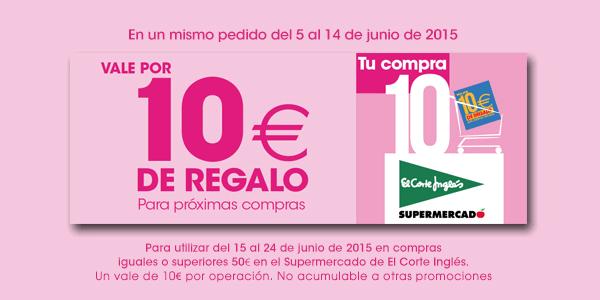 b120e0fe042b Cupón de 10€ para el Supermercado de El Corte Inglés