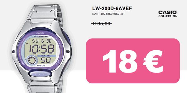 e3974a05d9d2 Chollo reloj Casio Collection LW-200D-6AVEF por sólo 18€