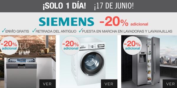 rebajas en electrodomésticos Siemens