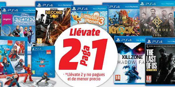 2x1 En Una Seleccion De Juegos De Ps4 En Media Markt