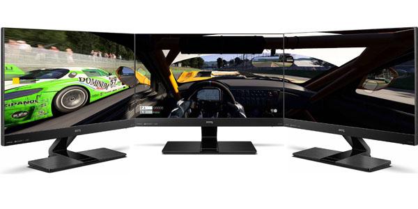 monitor 24 pulgadas benq ew2440l tres pantallas
