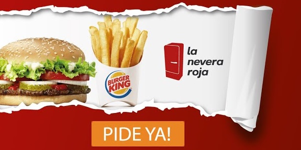 Burger King a domicilio La Nevera Roja