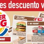 Cupones descuento Burguer King julio 2015