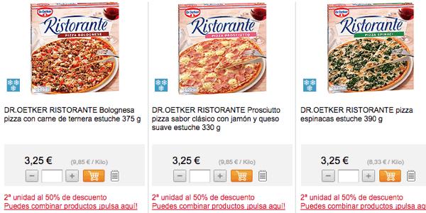 Pizzas Dr. Oetker Supermercado El Corte Inglés