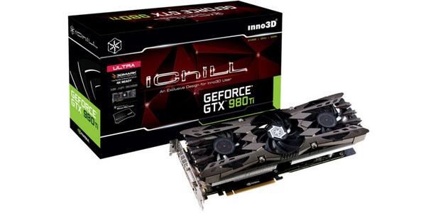 inno3d geforce gtx 980ti ichill x3 ultra 6gb gddr5 caja