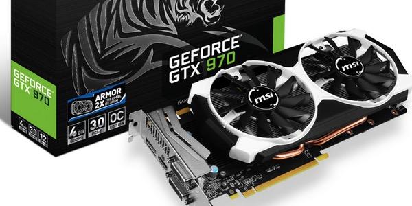 MSI GeForce GTX970 Armor 2X OC 4GB