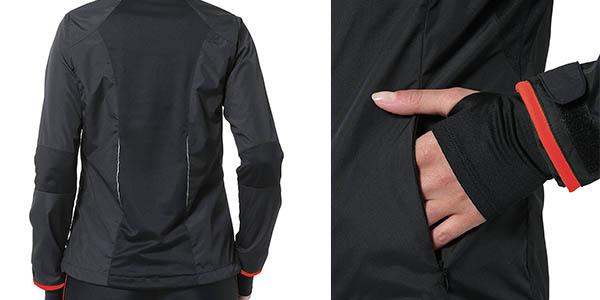 chaqueta Ultrasport Delight impermeable con puños con obertura para el pulgar a precio brutal