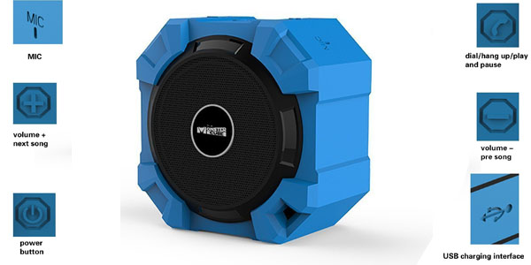 altavoz portatil monstercube inalambrico bluetooth acuatico funciones