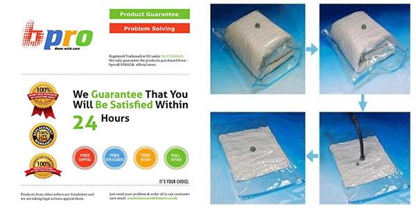 bolsas envasado vacío para ropa