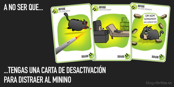 Cartas Desactivación Gatitos Explosivos