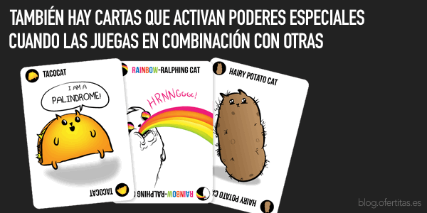 cartas especiales Exploding Kittens