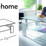 mesa centro lacada cristal barata