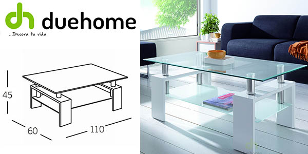 Chollo mesa de centro de dise o por s lo 47 - Tablero cristal ikea ...