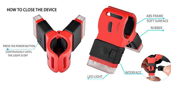 pinza LED para bici barata