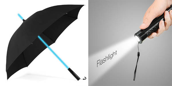 plemo paraguas linterna