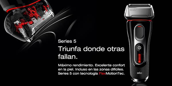 chollo afeitadora el ctrica braun series 5 5020 por s lo 113 60 99 de ahorro. Black Bedroom Furniture Sets. Home Design Ideas