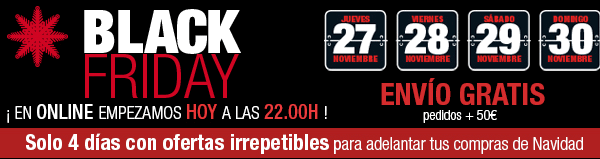 Apertura adelantada Black Friday