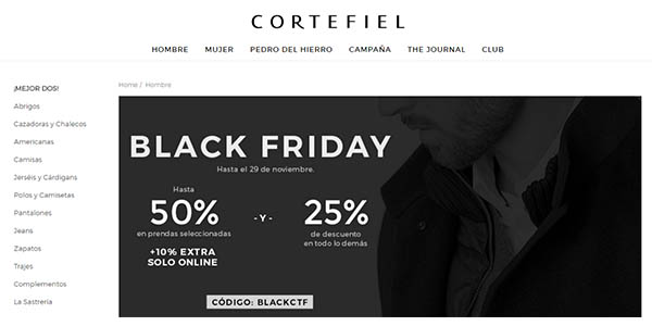 cortefiel black friday