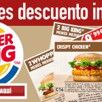 Cupones descuento Burger King noviembre 2015
