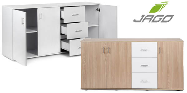 Chollo mueble c moda jago xl con 3 puertas y 3 cajones por for Comoda mueble