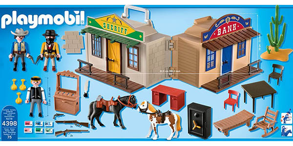 oferta playmobil malet n del oeste por s lo 19 64. Black Bedroom Furniture Sets. Home Design Ideas