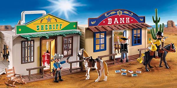 Oferta playmobil malet n del oeste por s lo 19 64 for Casa maletin playmobil
