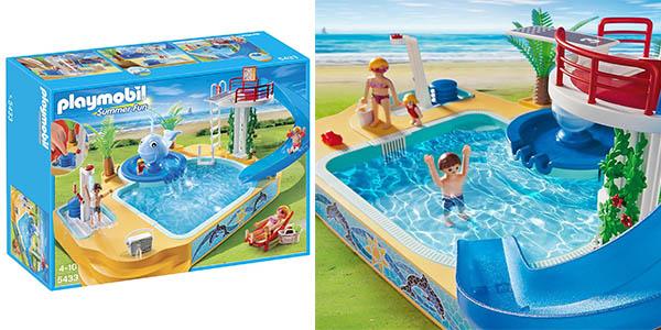 Oferta playmobil vacaciones con piscina y trampol n por for Playmobil piscina con tobogan