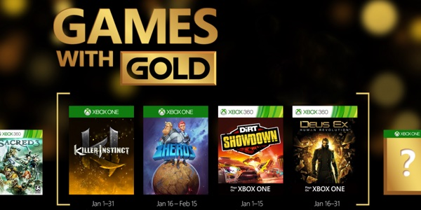 Juegos gratis con Xbox Live Gold enero 2016