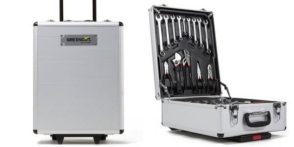 Chollo malet n de herramientas con ruedas con 251 piezas - Maletin de aluminio para herramientas ...