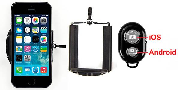Palo Selfie con mando disparador Bluetooth