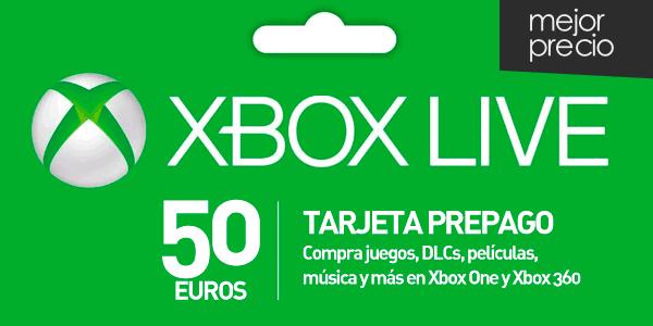 Tarjeta prepago Xbox Live