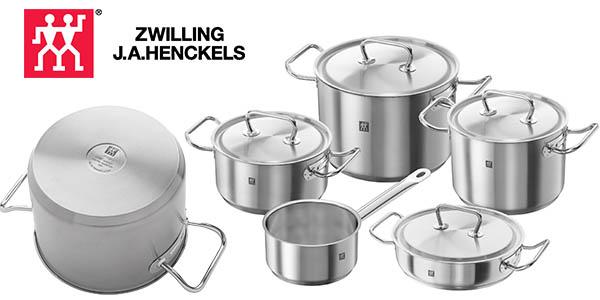 Chollo bater a de cocina zwilling twin classic de 5 piezas for Bateria de cocina alemana