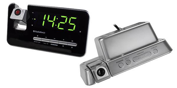 audiosonic reloj despertador proyector