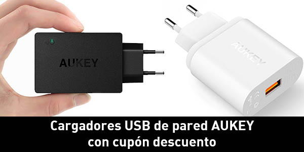 Cargadores USB de pared Aukey