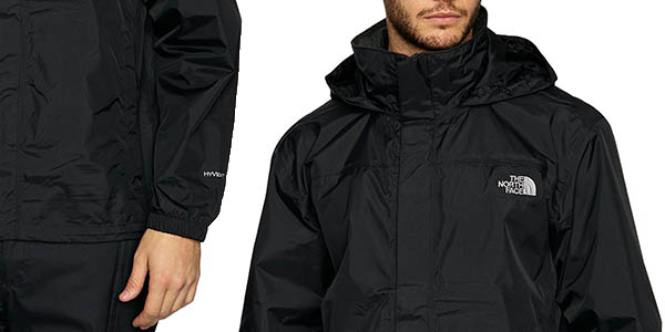 chaqueta para senderismo cortavientos The North Face Resolve en negro chollo