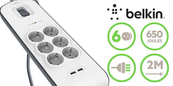 Regleta de protección Belkin 6 tomas + USB