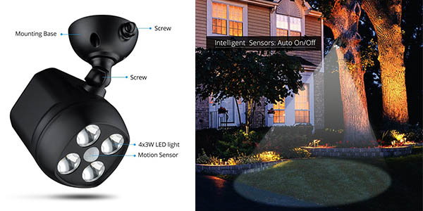 Chollo foco led para exterior con sensor de movimiento - Foco con sensor de movimiento ...