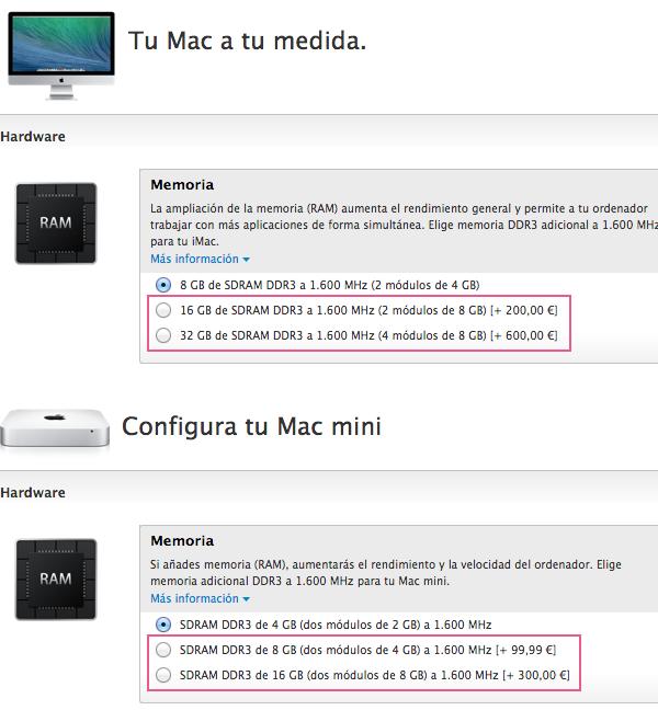 ampliar memoria mac mejor precio