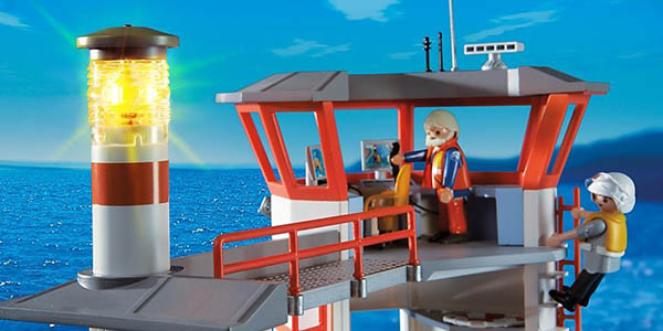 Chollo Guardacostas Estación Faro Con City Playmobil Action vN0nwm8