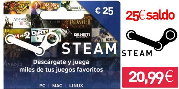 Tarjeta regalo 25€ Steam