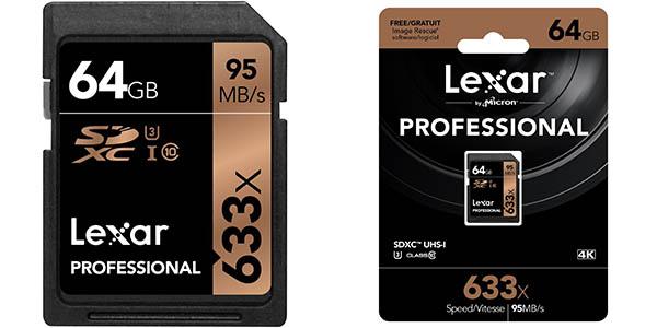 Tarjeta SDHC Lexar 64GB