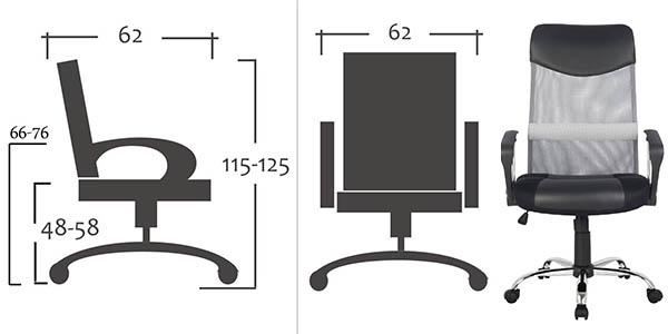 sixbros silla giratoria oficina