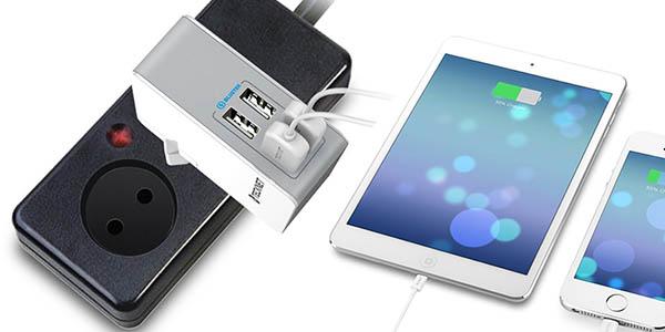 Cargador USB de pared 4 puertos 4,8A