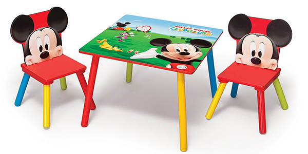 Oferta mesa y sillas mickey mouse de disney for Mesa infantil carrefour