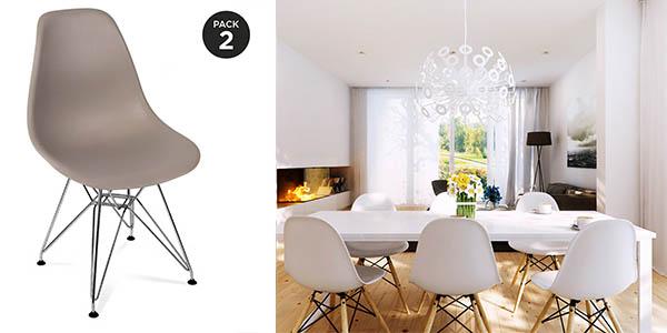 Pack sillas r plica tower de eames al mejor precio for Sillas vitra imitacion