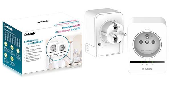 Kit adaptadores PLC D-Link Powerline 500 Passthrough AV