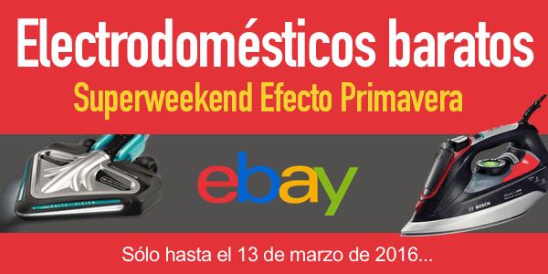 Electrodomésticos baratos marzo 2016
