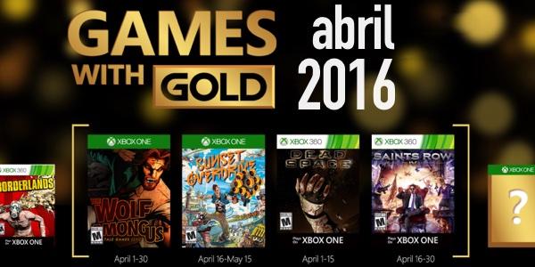 Juegos gratis Xbox Live Gold abril 2016