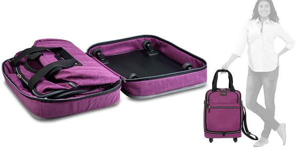maleta de tela plegable biaggi zipsak con neceser