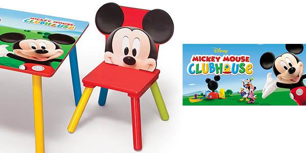 Oferta mesa y sillas mickey mouse de disney for Oferta mesa y sillas